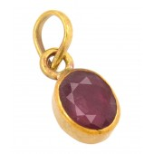 JanmPatrika Natural Ruby 6.25 Ratti Astrological Gemstone Pendant