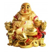 Anjalika Yellow Feng Shui Laughing Buddha Happy Man for Happiness and Wealth