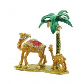 Kriti Creations Bejeweled Fengshui Wish-Fulfilling Yellow Camels