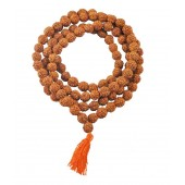 Benares Exclusive Brown Rudraksh Mala 6 mm