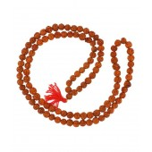 Nandita Creations Brown Acrylic Rudraksh Pooja Mala(set Of One)
