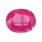 JanmPatrika Certified Gemstone Natural Ruby ( Manik / Surya ) Of 9.11 Ratti / 8.28 Carat , Delux Category