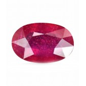 JanmPatrika Certified Gemstone Natural Ruby ( Manik / Surya ) Of 3.42 Ratti / 3.11 Carat , Premium Category