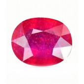 JanmPatrika Certified Gemstone Natural Ruby ( Manik / Surya ) Of 3.32 Ratti / 3.02 Carat , Premium Category